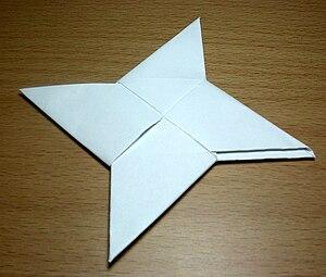 English: Origami Ninja Star