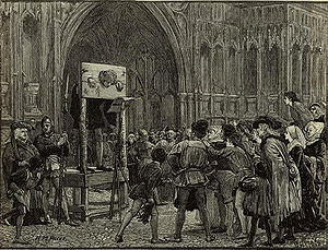 Perkin Warbeck in the pillory.