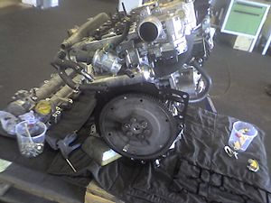 English: 1.9 TiD Multijet engine, Saab 9-5, 110 kW