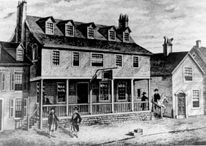 Sketch of Tun Tavern in the Revolutionary War,...