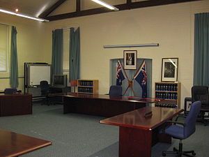 A court room used for Australian Defence Force...