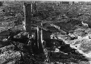 English: Warsaw Ghetto, smashed into the groun...