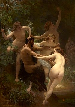 Bouguereau's Nymphs and Satyr