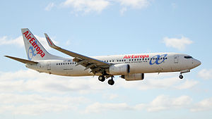 Air Europa B737-800 EC-JBL landing.