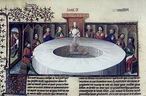 The Round Table experience a vision of the Hol...
