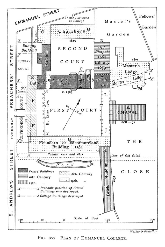 File:Historical plan of Emmanuel College, Cambridge (1897