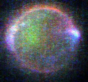 Auroral glows in Io's upper atmosphere. Differ...