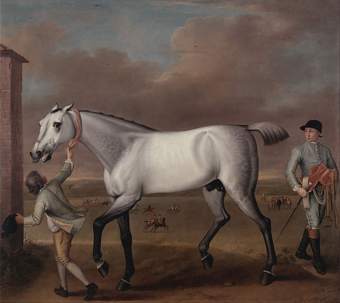 File:John Wootton - The Duke of Hamilton's Grey Racehorse, 'Victorious,' at Newmarket - Google Art Project.jpg