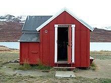 Die erste Hütte am See Amitsorsuaq