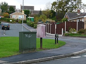 English: Mail box at road junction These once-...