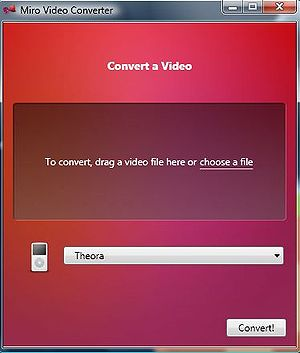 Miro Theora Video Converter