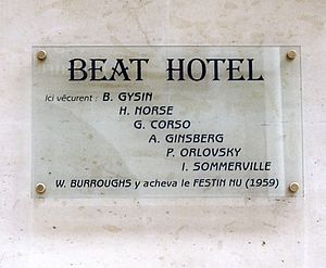 Plaque at No. 9 Rue Gît-le-Cœur, Paris 6th, in...