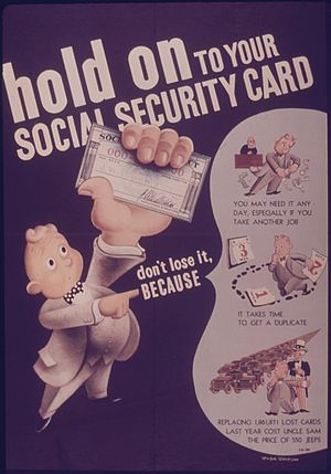 "Poster, ""Hold on to Your Social Security ..."