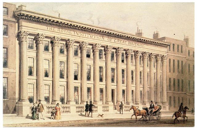 The Royal Institution of Great Britain, Painting by Thomas Hosmer Shepherd (1793-1864)