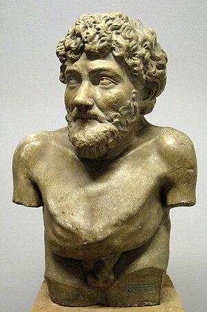 Aesop. Cast in pushkin museum from original in...