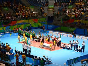 wheelchair volleyball black and gold dining chairs at the summer paralympics wikipedia sitting edit