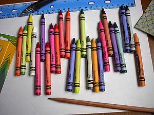 Crayola crayons, 24 pack, 2005.
