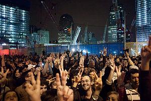 Crowd at Ground Zero on 5/1/11-5/2/11 followin...