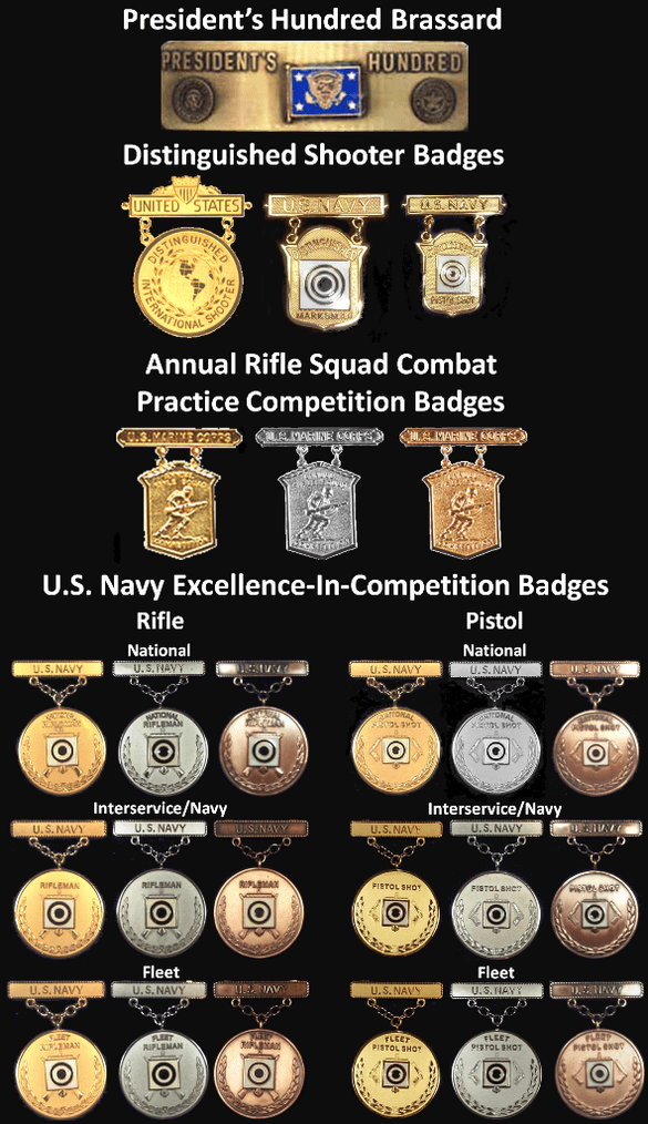 Example Usn Marksmanship Competition Badges Png