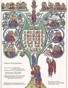 Tree of jesse illustration based on the hortus deliciarum herrad landsberg th century also genealogy jesus wikipedia rh enpedia