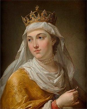 Portrait of Queen Jadwiga of Poland.