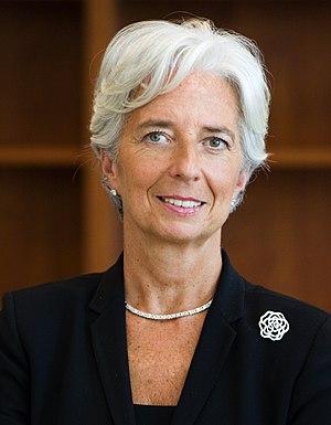 Français : Christine Lagarde, directrice génér...