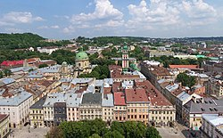 Lwów - Widok z wieży ratuszowej 01.jpg