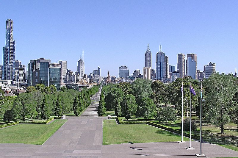 File:Melbourne CBD (View from the top of Shrine of Remembrance).jpg