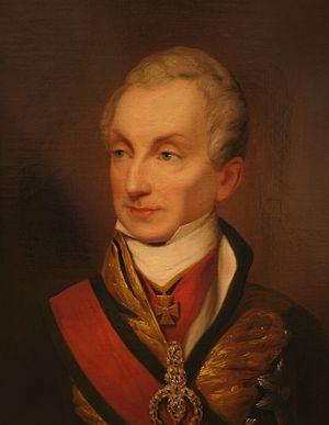 Austrian statesman Klemens von Metternich.