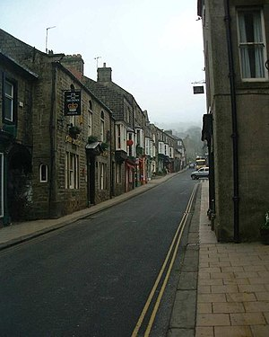 English: Pateley Bridge High Street. In Nidderdale