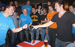 English: 4th UK Rock Paper Scissors Championships