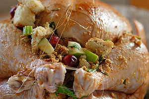 A stuffed turkey