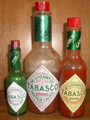 3 types of tabasco sauce