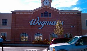 English: The front facade of the new Wegman's ...