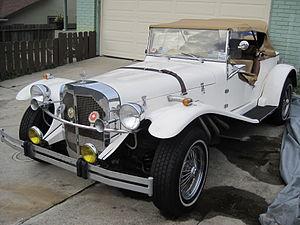 A Mercedes Gazelle kit car.