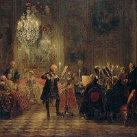 """Frederick the Great Playing the Flute at Sanssouci"" by Adolph Menzel"