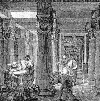 The Ancient Library of Alexandria, an early fo...