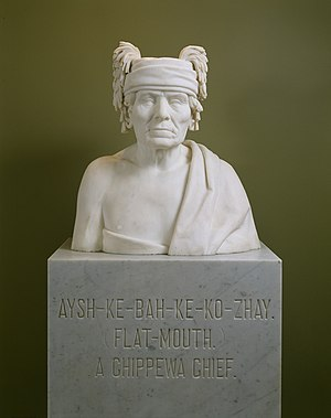 English: Aysh-ke-bah-ke-ko-zhay ojibwa chief