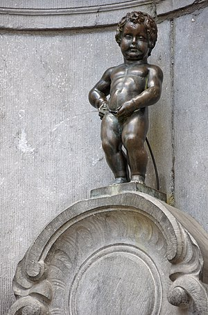 Manneken Pis in Brussels, Belgium. The origina...