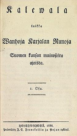 Le Kalevala de 1835