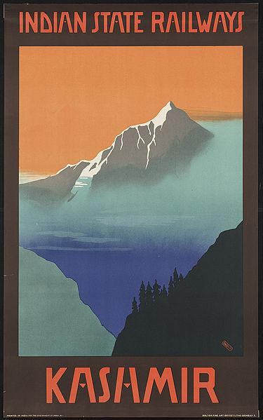 Vintage travel posters inspiring tourism to Kashmir India