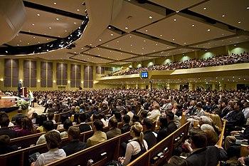 English: A Service at Lancaster Baptist Church