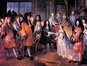 An arranged marriage between Louis XIV of Fran...