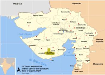 Map Location - Nal Sarovar Bird Sanctuary.