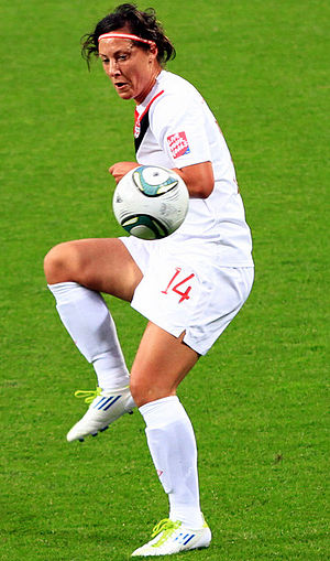English: Melissa Tancredi playing for Canada i...