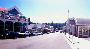 English: Downtown Nevada City Spring 2011