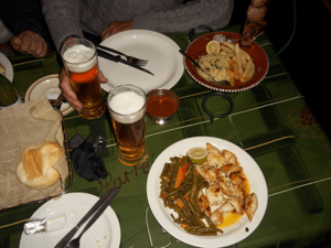 "Typical ""Pub Grub"" served at a publi..."