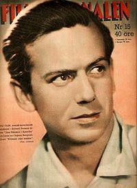 Stig Olin i Filmjournalen, 1947.