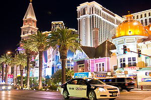 English: The strip in Las Vegas