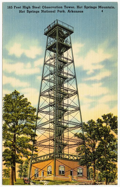 File 165 Feet High Steel Observation Tower Hot Springs